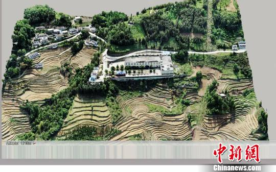"""""""贵州茶云""""物联平台上的3D茶图和茶厂图。 茶轩 摄"""
