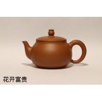 潮州手拉壶谢华大师弟子赖通发茶壶直销花开富贵